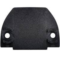 Cale de rehausse pour butée Vachette 9874 en nylon noir épaisseur 10 mm
