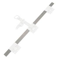 Tringle d'espagnolette plate Torbel inox 316L 1500 mm poignée à 500 mm