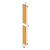 Tringle acier 20 x 4 mm longueur 1m Torbel 8601102