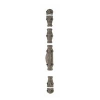 Crémone rustique moulurée fonte menuiserie 1/2 ronde 16x8 mm Gris mat