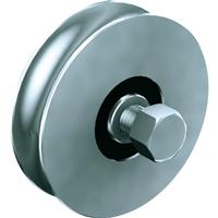 Galet à support intérieur en acier galvanisé diamètre 80 mm gorge ronde 16mm Mantion 20081R16