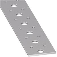 Plat perforé acier profilé froid PAF galvanisé 40 x 2 mm 1 m CQFD