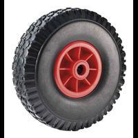 Roue pneumatique gonflable noir diamètre 260 mm alésage 25 : PRODIF-SOMEC 031580