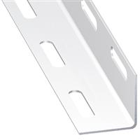 Cornière égale perforée acier laminé froid époxy blanc 38 x 38 mm1 m