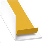 Cornière d'angle adhésive PVC blanc laqué - 20 x 20 mm - longueur 1.3 m CQFD 2071-87550