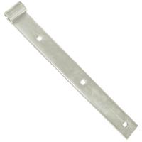 Penture droite acier zingué blanc Torbel 35 x 5 mm x 300 mm gond 14 mm