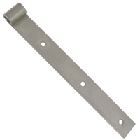 Penture droite percée Torbel inox 316L gond 16 mm longueur 400 mm