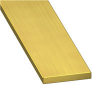 Profilé plat en laiton - largeur 10 mm - épaisseur 2 mm - longueur 1 m CQFD 2009-4111