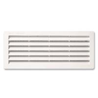 Grille ventilation en plastique renforcé moustiquaire -254 x108 mm-Blanc