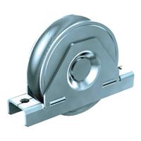 Galet en acier galvanisé diamètre 80mm gorge ronde 16mm Mantion 22081R16