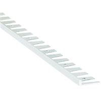 Arrêt cintrable droit percé Alu brut - 10 mm x 2.50 m Romus 13526