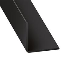 Cornière d'angle égale PVC noir - 20 x 20 mm - longueur 1 mètre CQFD 2002-70550