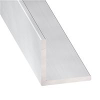 Cornière égale - Aluminium anodisé incolore - 10 x 10 mm - épaisseur 1 mm - longueur 2 m CQFD 2007-5320