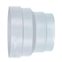 Réduction droite mâle-femelle pour gaine flexible-Ø100/80 mm-PVC Blanc