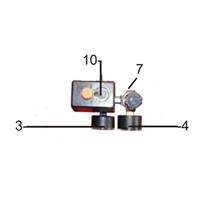 Kit pressostat avec détendeur et manomètres pour compresseur 853Z012