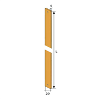 Tringle acier 20 x 4 mm longueur 1.8m Torbel 8601152