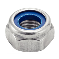 Ecrou hexagonal indesserable (frein) din985 inox A4 M08 - Boîte de 200