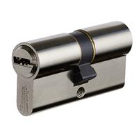Cylindre double européen Vachette Velix nickelé avec 5 clés - 30 x 30 mm