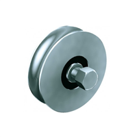 Galet à gorge ronde Mantion - Capacité 200 Kg - Diamètre 80 mm - Acier