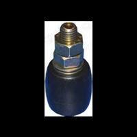 Guide haut pour porte coulissante avec olive nylon bombé Mantion 23040B