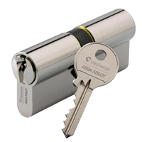 Cylindre 2 entrées Vachette First nickelé s'entrouvrant 3 clés - 30x30mm
