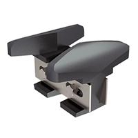 Sabot fonte réglable (21 à 50 mm) pour porte courante : Mantion 1011