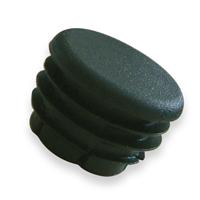 Embout rond entrant pour tube - noir - diamètre 16 mm - lot de 10 CQFD 2004-7202