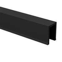Bas de porte profil U en PVC noir 12x17 mm Mantion 1106/110