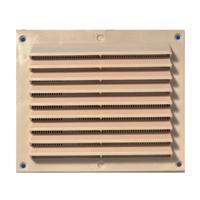 Grille de ventilation anti-pluie à auvents + moustiquaire - 175 x 146 mm