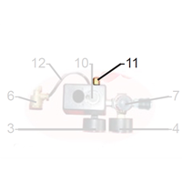 """Soupape sécurité 1/4"""" tarée à 8 bar pour compresseur Prodif 1245J 631408"""