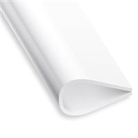 Serre feuillet en PVC blanc - hauteur 15 mm - longueur 1 mètre CQFD 2002-68306