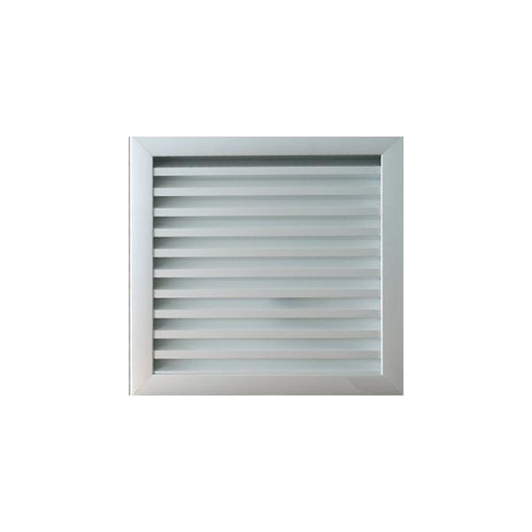 grille de ventilation murale assembl e pour ext rieur alu anodis 300 x 293 as333005724. Black Bedroom Furniture Sets. Home Design Ideas