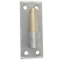 Gond sur plaque Torbel inox 316L et laiton gond 14 mm longueur 100 mm