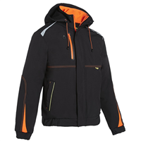 Veste respirante waterproof Morane noir et orange Taille L North way