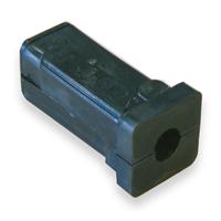 Insert plastique pour tube carré - noir - 20 x 20 mm - lot de 4 CQFD 2004-7802