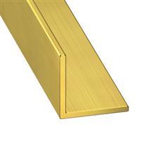 Cornière égale - laiton - 10 x 10 mm - épaisseur 1 mm - longueur 1 m CQFD 2009-4122
