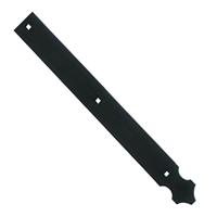 Contre-penture feston percée Torbel noire 39 x 3 mm longueur 370 mm