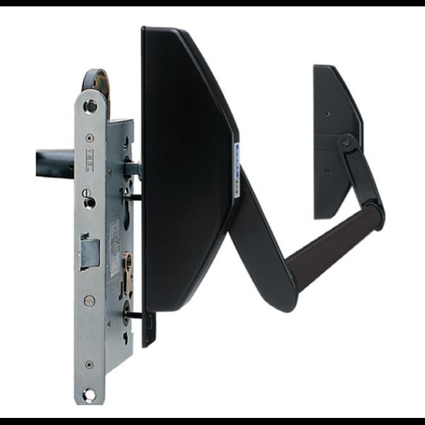 barre anti panique en applique porte de secours 1 vantail tesa 1970908. Black Bedroom Furniture Sets. Home Design Ideas