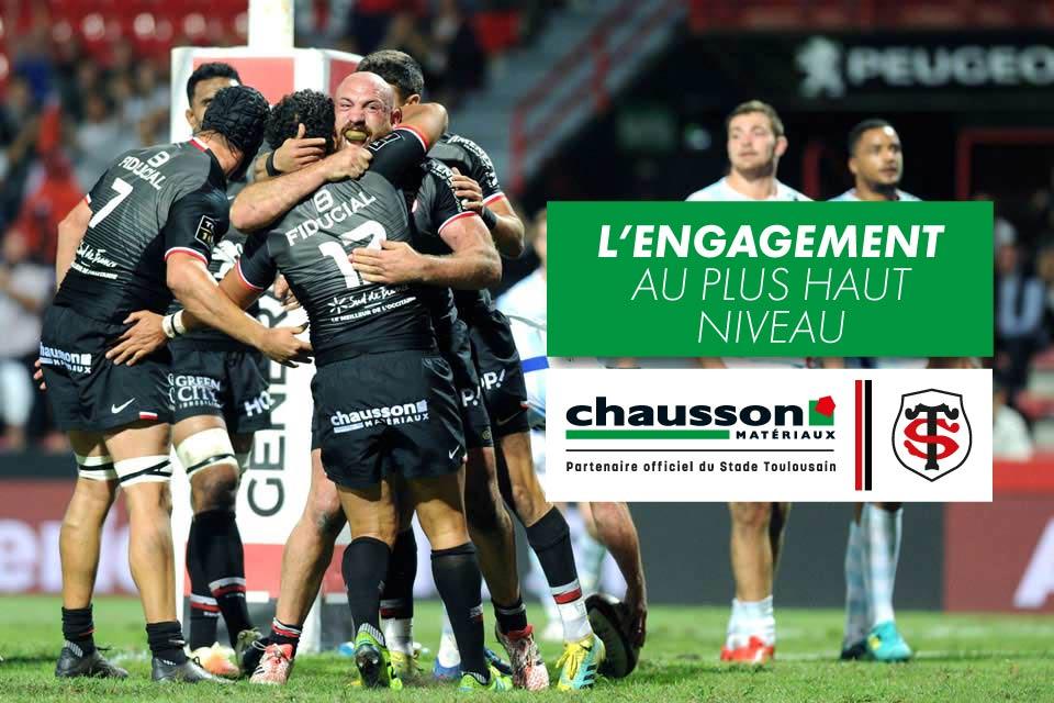 Partenariat Chausson Matériaux - Stade Toulousain